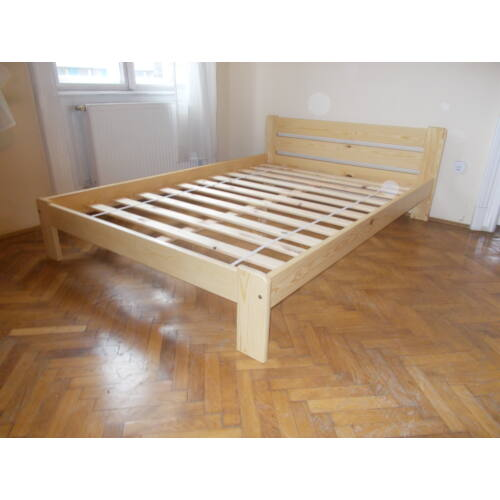 Komplett ágy, Relax, fenyő színben, Bázis matraccal. 160X200