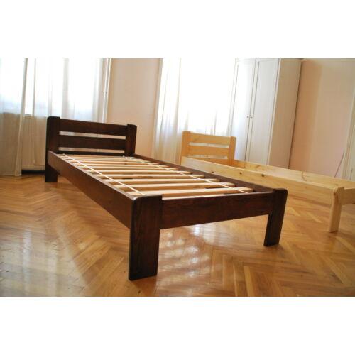 Komplett ágy, Relax, mogyoró színben, Bázis matraccal. 90X200-as.