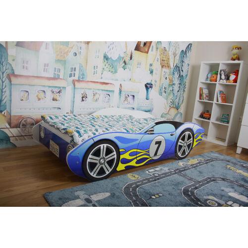 Autós ágy 80x160-es kék
